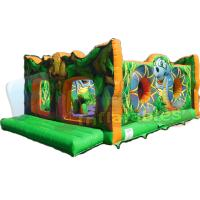 Buy cheap Animals Playground Jungle Commercial Bouncy Castles Durable 0.55mm PVC Tarpaulin Material from wholesalers