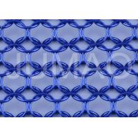 Buy cheap Architectural Metal Ring Curtain , Dark Blue Sun Rot Proof Ring Mesh Curtain product
