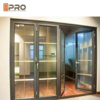 Buy cheap Horizontal Aluminum Folding Doors For Kitchen With Double Tempered Glass from wholesalers