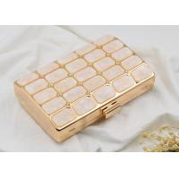Buy cheap Rose Acrylic Stone Shell Evening Clutch Box HandBag Shining Customized Logo product