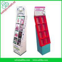 Buy cheap Pop Cheap Custom printed Promotion Rack Supermarket advertising shelf Cardboard DVD CD display stand with pockets from wholesalers