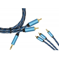 Buy cheap 3.5/2 RCA Gold Plated Extension Cable from wholesalers