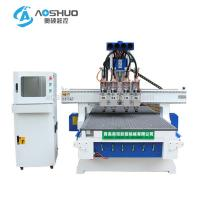 Buy cheap 4 Head 4 Axis Cnc Wood Carving Machine 9kw For Cabinet And Door Engraving from wholesalers