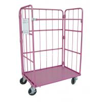 Buy cheap Metallic Folding Roll Cage Trolley Bright Electro Zinc Plated Finish from wholesalers