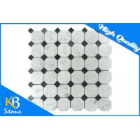 Buy cheap Octagon Black and White Marble Mosaic Tile Sheets , Decorative Wall Marble Backsplash Tile from wholesalers