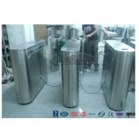 Buy cheap Indoor / Outdoor Flap Barrier Turnstile Waist Height Turnstile Sliding High Speed product