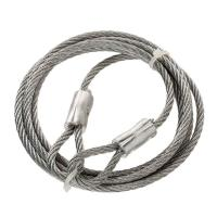 Buy cheap 3/16 Inch X 6 feet Wire Lifting Slings Galvanized Security Cable For Guide Wires from wholesalers