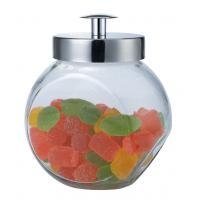 Buy cheap Small size  glass canisters with metal lid,1.5L for sugar,cookie product