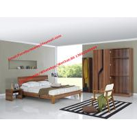 Buy cheap MDF melamine Furniture for Budget Hotel in modern deisgn by panel bed and doors wardrobe from China factory product