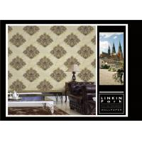 Buy cheap PVC Classic Vintage Style Floral Wallpaper , Vintage Living Room Wallpaper Non Toxic product