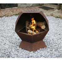 Buy cheap impressive corten steel timber propane fire pit for garden heating from wholesalers