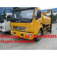 Buy cheap hot sale dongfeng Euro  4  4cubic meters fecal suction truck, factory direct sale 4cubic meters vacuum suction truck, from wholesalers
