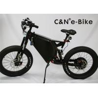 Buy cheap Men's Motorized Electric Fat Tire Mountain Bike With Suspension Black White Color from wholesalers