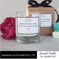 China Clean Burning Scented Jar Candle , Apple Cinnamon / Rose Scented Candles on sale