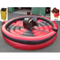 Buy cheap 1 Person Inflatable Mechanical Bull , Tarpaulin Inflatable Round Mat Mechanical Rodeo Bull from wholesalers