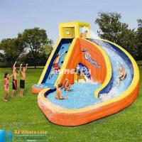 Buy cheap Exciting Long Slide Inflatable Water Slide And Pool For Kids Enjoy Fun from wholesalers