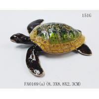 China metal alloy turtle trinket jewelry box with magnet closure good quality and various designs on sale