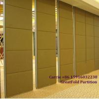 Buy cheap Wooden panel movable folding partition wall for conference room from wholesalers