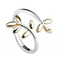 Buy cheap Minimalist Adjustable Finger Double Leaf Ring With Laurel Shape , Personized Logo from wholesalers