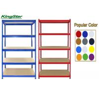 Buy cheap 200Kg Capacity Bolt Free Shelving Systems , Living Room Shelving Units 5 Tier from wholesalers