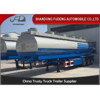 Buy cheap Diesel Gasoline Crude Oil Tanker Trailers 35CBM  -  90CBM Q345B Carbon Steel from wholesalers