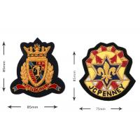 Indian silk Brithish American luxury brand clothing company logo Clothes badge embroidery stereo custom