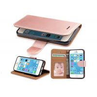 Buy cheap Shockproof Rose Gold Leather Flip Phone Cover For Apple IPhone 6 6s 4.7 Inch from wholesalers