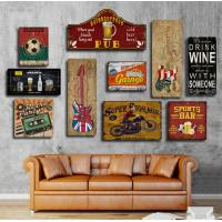 Buy cheap Hot sale Custom Mdf Restaurant Novelty Wall Sign Hanging Wire Design Vintage Wooden Signs Home Decor With Sayings from wholesalers