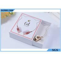 Headset White Cardboard Gift Boxes , Drawer Type Logo Printed Gift Boxes