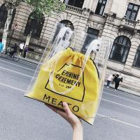 Buy cheap Fashion Clear PVC Tote Bag Handbag For Ladies , Offset Printing Or Silk Screen Printing from wholesalers