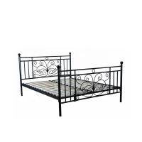 Buy cheap Bedroom Black Queen Wooden Slat Bed Frame Electrostatic Powder Coating from wholesalers