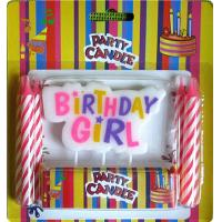 Buy cheap Girl Style Pick Letter Birthday Candles No Dripping Pink Paraffin For Happy Activity from wholesalers