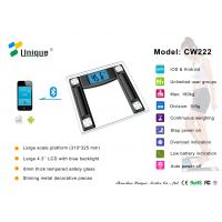 Buy cheap CW222B bathroom scale design with Bluetooth Connection from wholesalers