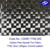Buy cheap Corner Pattern T700 12K Toray Carbon 8mm Spread Tow Fabric product