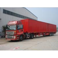 Buy cheap Strong Semi Box / Bulk / Van Cargo Truck Trailer , Q345B steel 24ft box truck from wholesalers