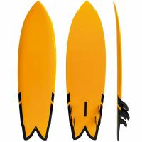 Buy cheap Customized Yellow 6'5 Surf Air Inflatable Surfboard Fiberglass Material Orange Color from wholesalers