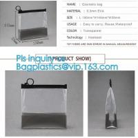 Buy cheap top zipper slider clear packing PVC Bag, Custom Printed Clothes Packaging Suited Frosted PVC/EVA Vinyl Slider Top Zipper from wholesalers