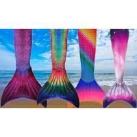 Buy cheap Breathable Adults Silicone Mermaid Tail Swimming Pink , Blue , Green Color from wholesalers