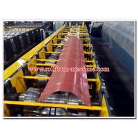 Buy cheap Round Profiled Aluminium & Steel Roof Ridge Capping Sheet Cold Roll Forming Machine from wholesalers