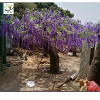 Buy cheap UVG wedding planner artificial flower arrangements purple wisteria blossoms fake tree for beach club decoration from wholesalers