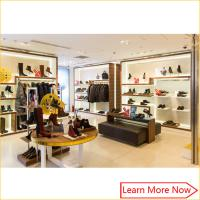 Buy cheap Retail Luxury Wood Flooring Handbag Store Display Rack with customized size from wholesalers