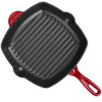 Buy cheap Enamel square cast iron grill pan 26cm from wholesalers