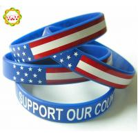 Buy cheap Customized Screen Printed Silicone Rubber Bands ,Colorful Silicone Bracelets from wholesalers