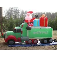 Buy cheap Giant Inflatable Advertising Products Christmas Ornaments Santa Claus With Car from wholesalers