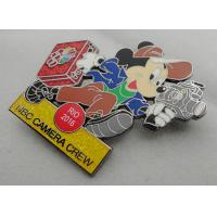 Buy cheap NBC Camera Crew Disney Pin Badge by Zinc Alloy, Synthetic Enamel, Black Nickel, Glitter Filled from wholesalers