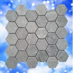 Buy cheap natural slate hexagonal mosaic bathroom tile from wholesalers
