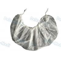 Buy cheap Single / Double Elastic Disposable Surgical Caps , Non Woven White Surgical Beard Mask from wholesalers