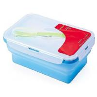 Buy cheap OEM / ODM customed design silicone lunch box, silicone collapsible lunch box with factory price from wholesalers