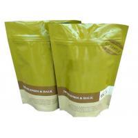 Buy cheap Ziplock FlatBottom Coffee Packaging Bags Aluminum Foil Inside 120 Mic product