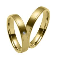 Buy cheap Solid Gold Wedding Bands Men's Wedding Jewelry Couple Rings with Diamonds JSHG274 from wholesalers